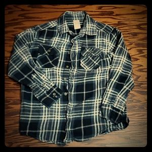 Faded Glory Boys Black and White Flannel